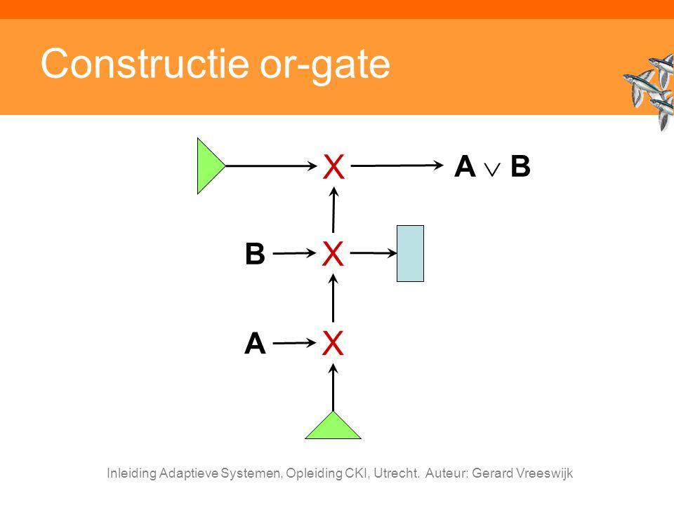 Constructie or-gate X X X A  B B A