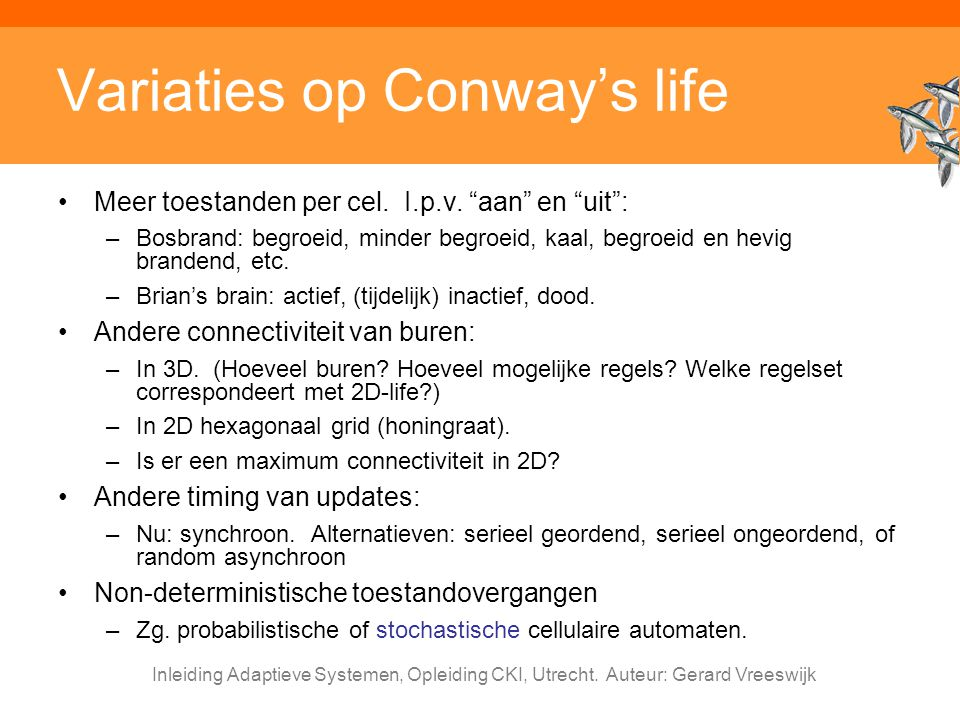 Variaties op Conway's life