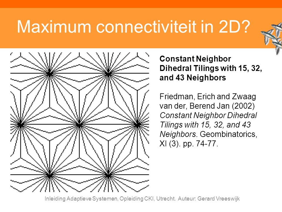 Maximum connectiviteit in 2D