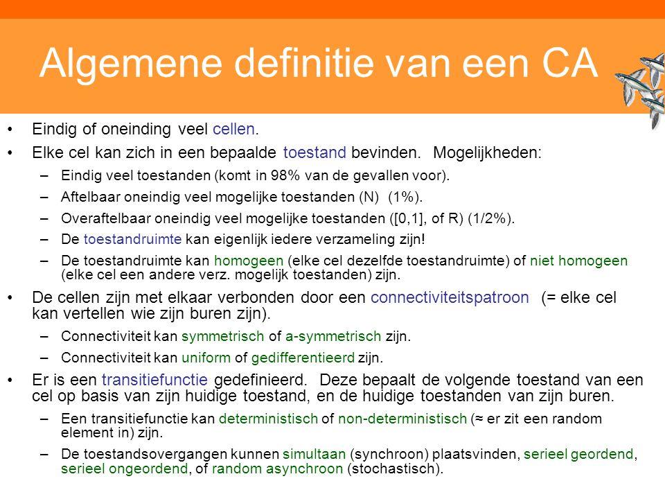 Algemene definitie van een CA