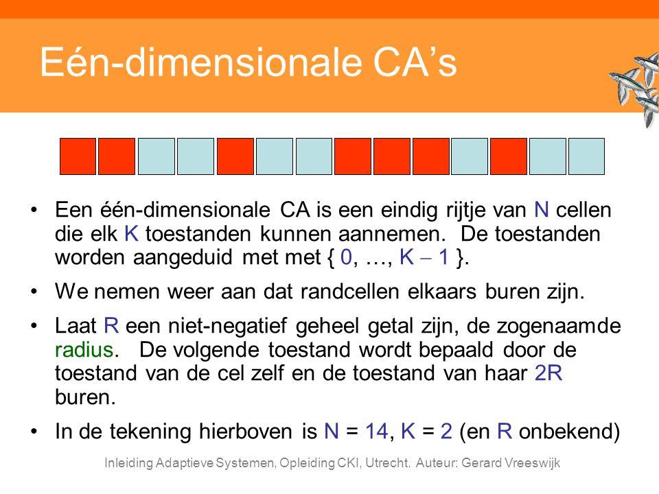 Eén-dimensionale CA's