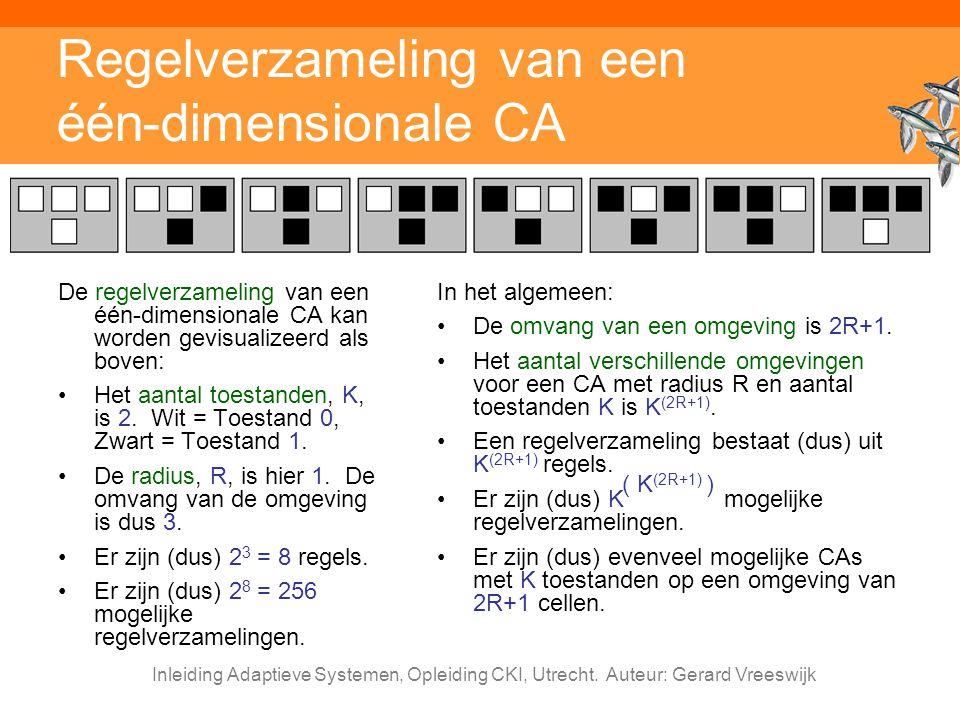 Regelverzameling van een één-dimensionale CA