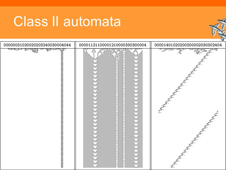 Class II automata Inleiding Adaptieve Systemen, Opleiding CKI, Utrecht. Auteur: Gerard Vreeswijk
