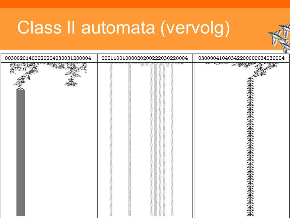 Class II automata (vervolg)