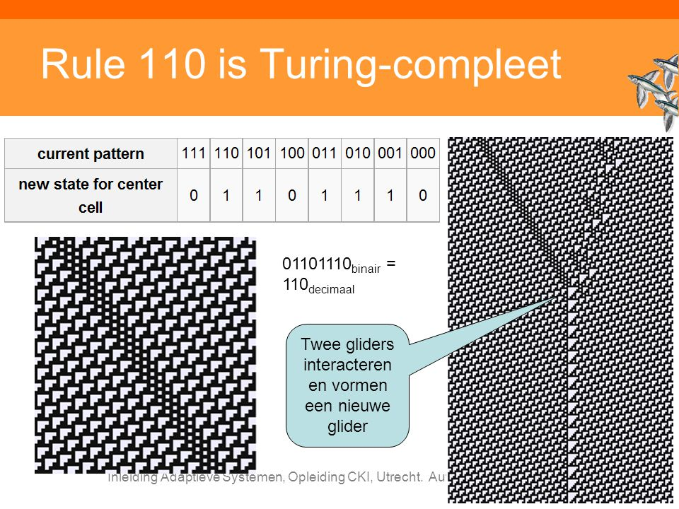 Rule 110 is Turing-compleet
