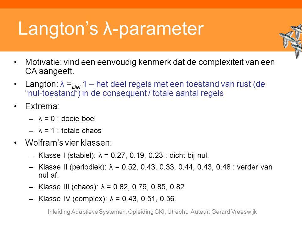 Langton's λ-parameter