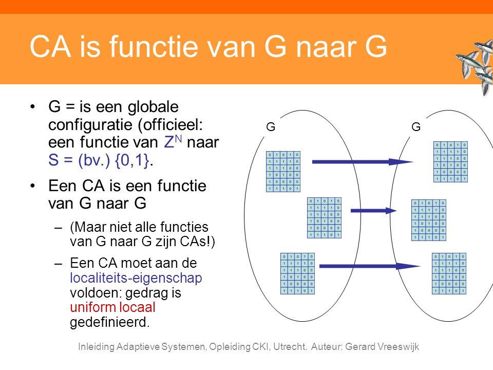 CA is functie van G naar G