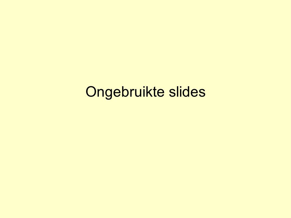 Ongebruikte slides Inleiding Adaptieve Systemen, Opleiding CKI, Utrecht. Auteur: Gerard Vreeswijk