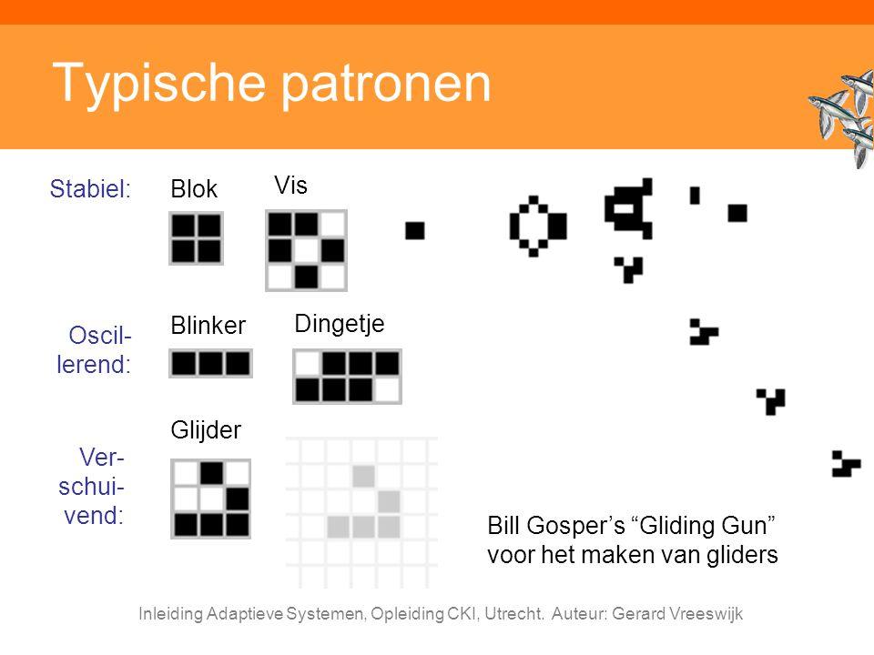 Typische patronen Stabiel: Blok Vis