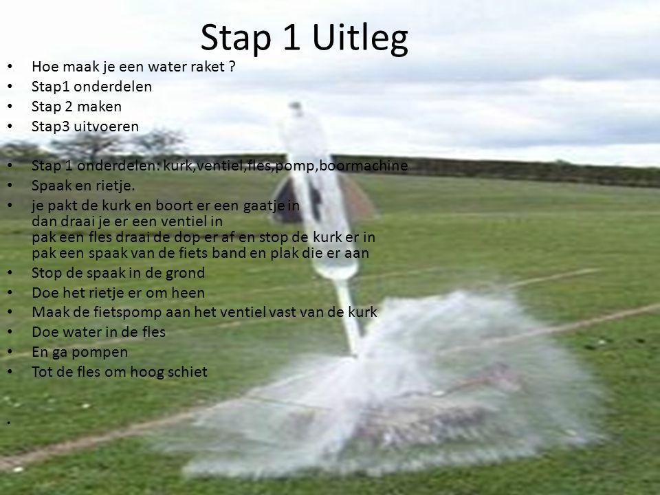 Stap 1 Uitleg Hoe maak je een water raket Stap1 onderdelen