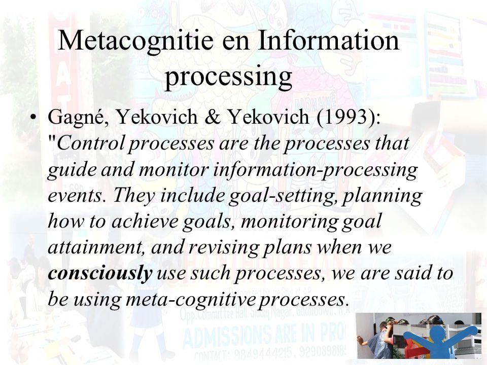 Metacognitie en Information processing