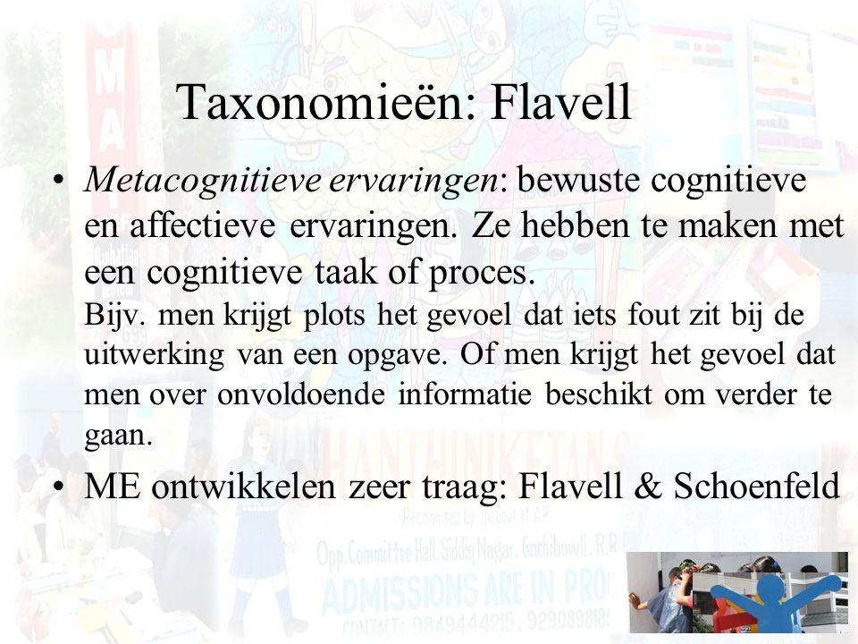 Taxonomieën: Flavell