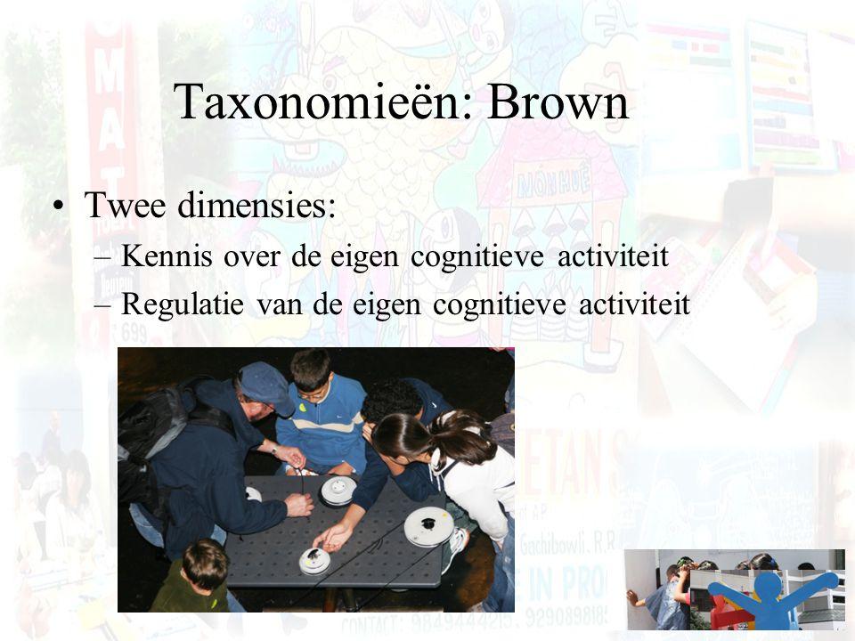 Taxonomieën: Brown Twee dimensies: