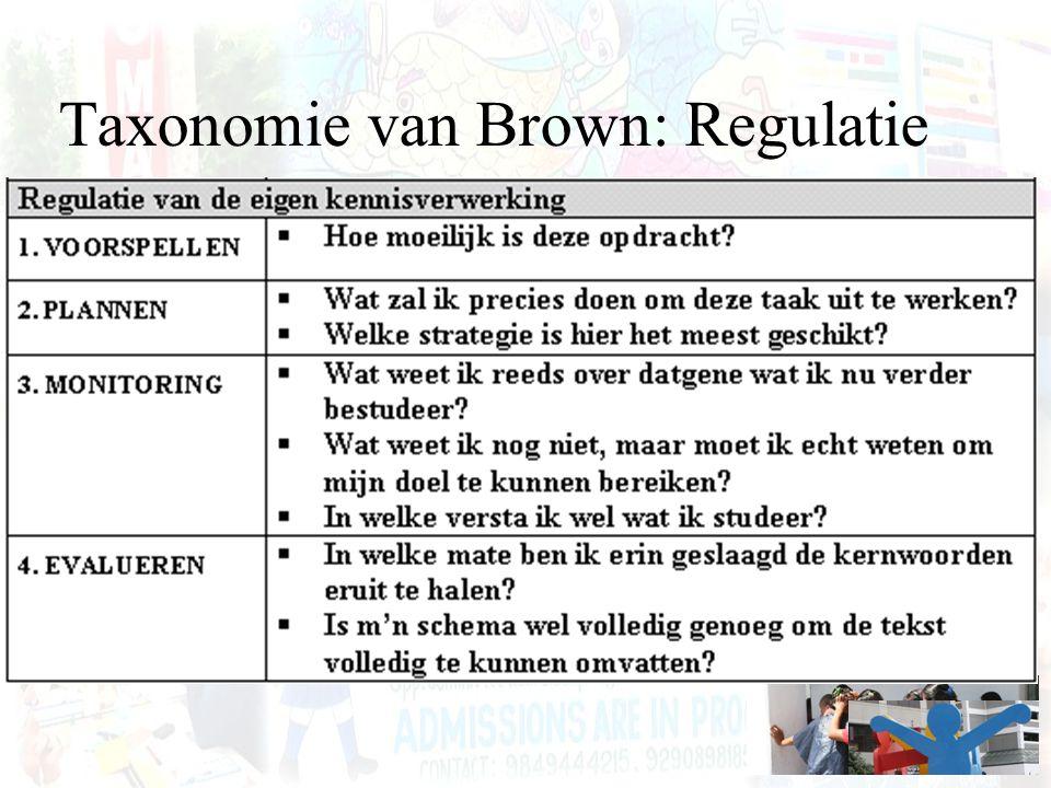 Taxonomie van Brown: Regulatie
