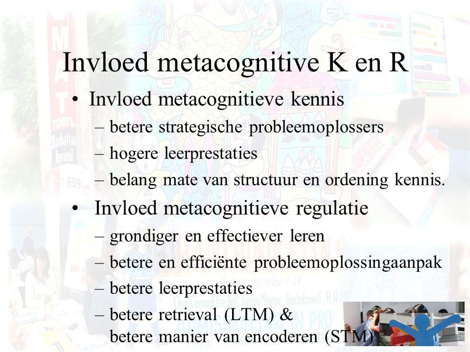Invloed metacognitive K en R