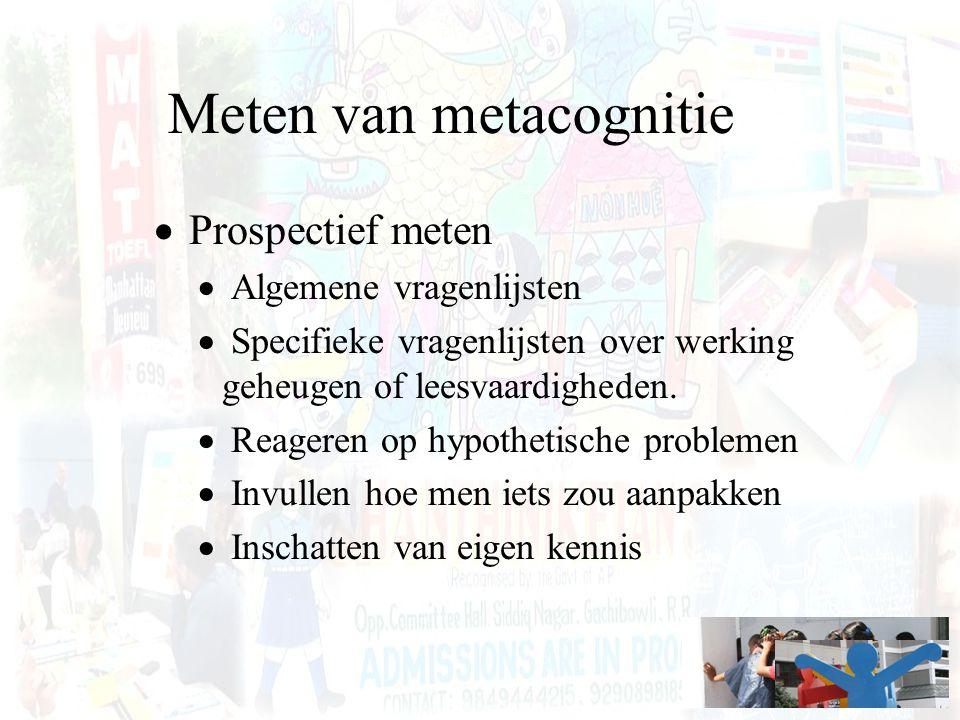 Meten van metacognitie