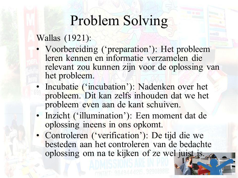 Problem Solving Wallas (1921):