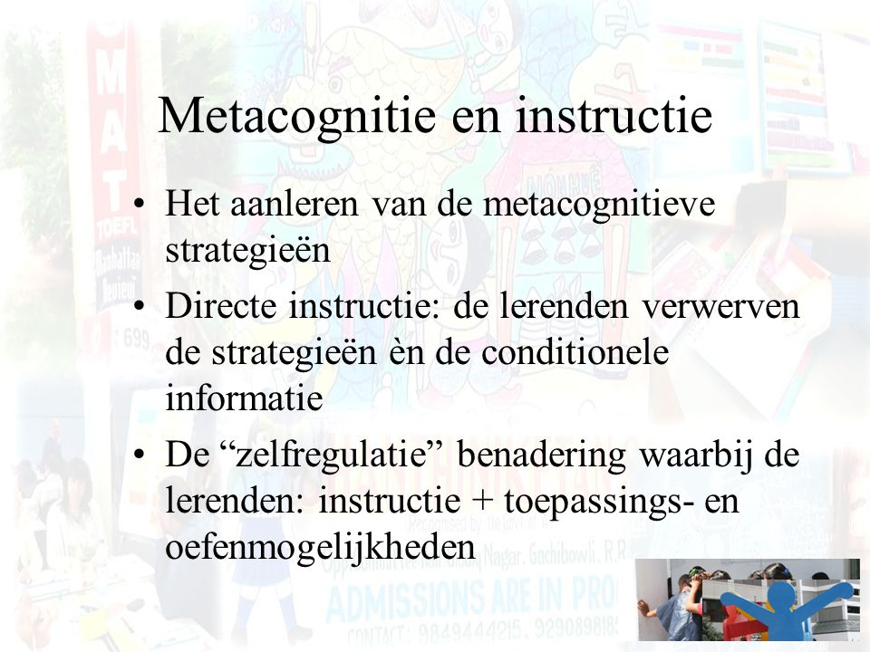 Metacognitie en instructie