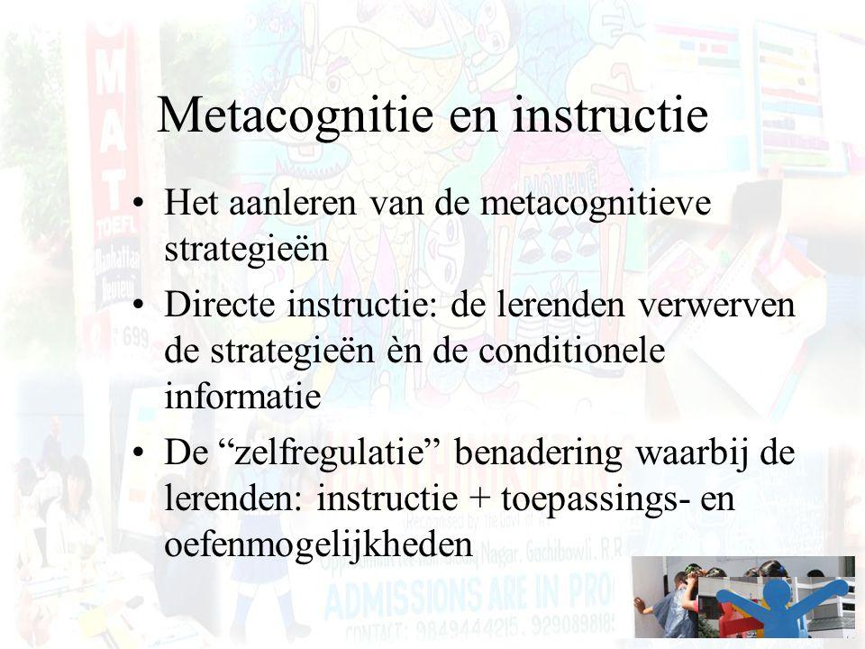 Metacognitie en instructie