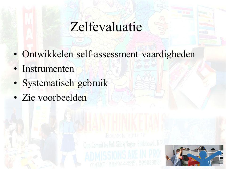 Zelfevaluatie Ontwikkelen self-assessment vaardigheden Instrumenten