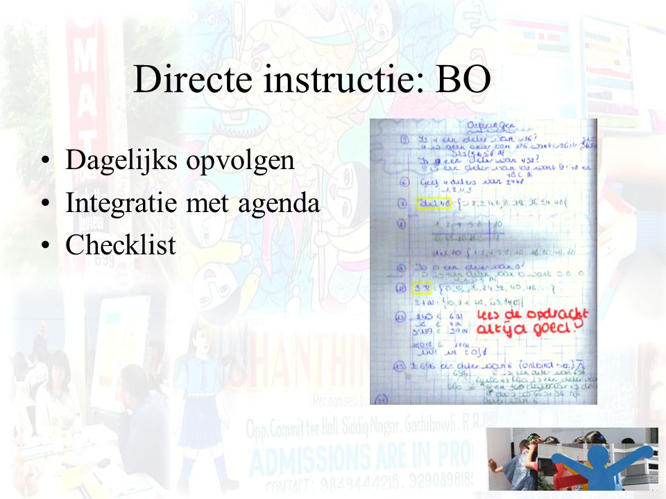 Directe instructie: BO