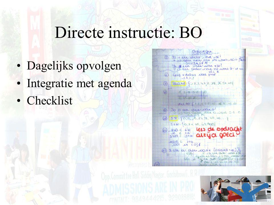 Directe instructie: BO