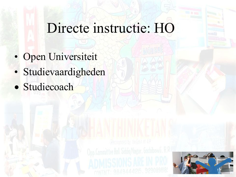 Directe instructie: HO