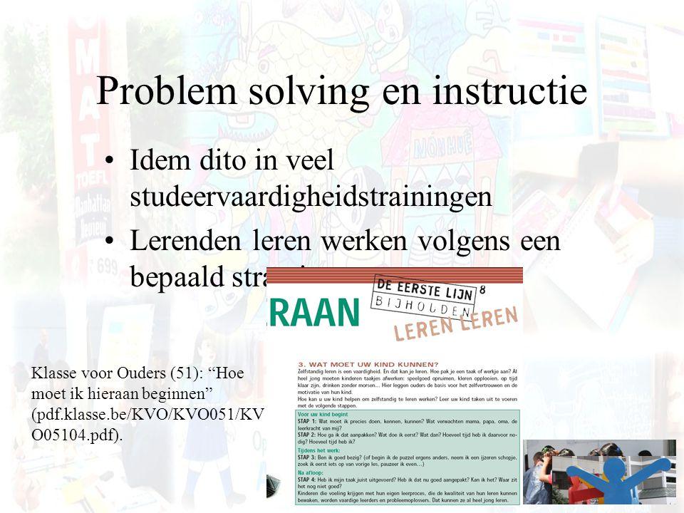 Problem solving en instructie