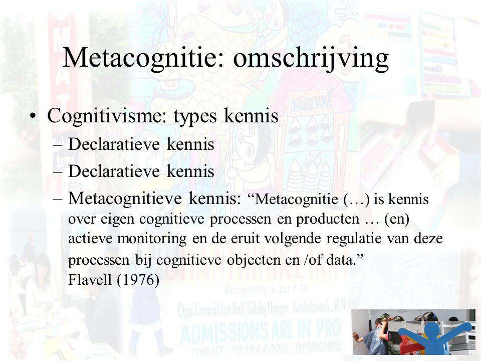 Metacognitie: omschrijving