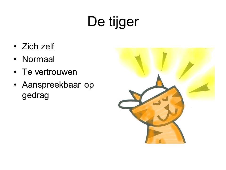 De tijger Zich zelf Normaal Te vertrouwen Aanspreekbaar op gedrag