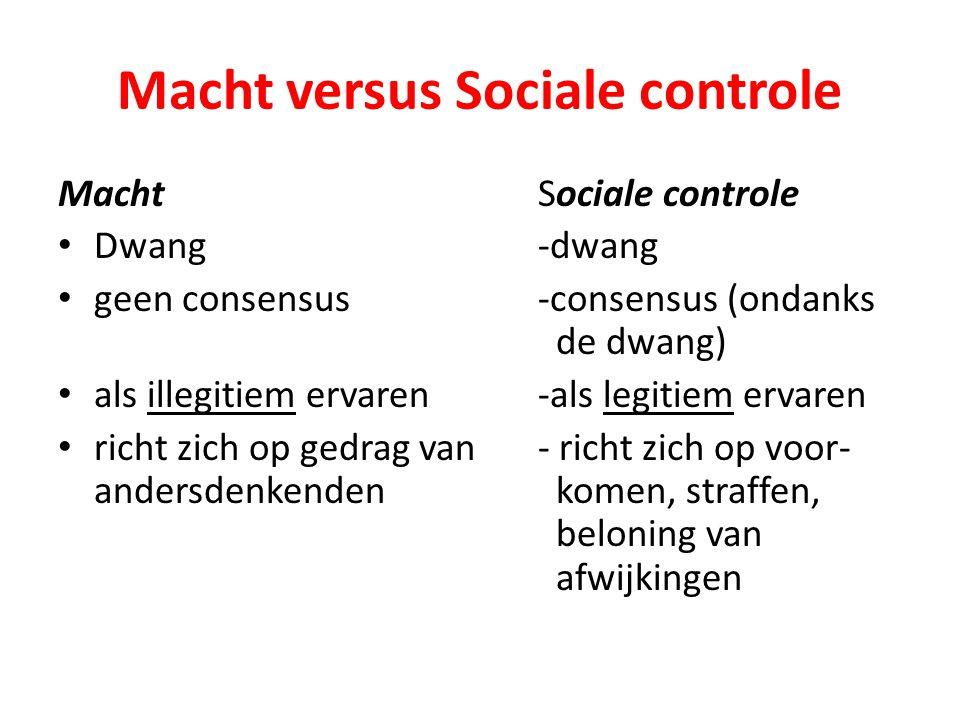 Macht versus Sociale controle