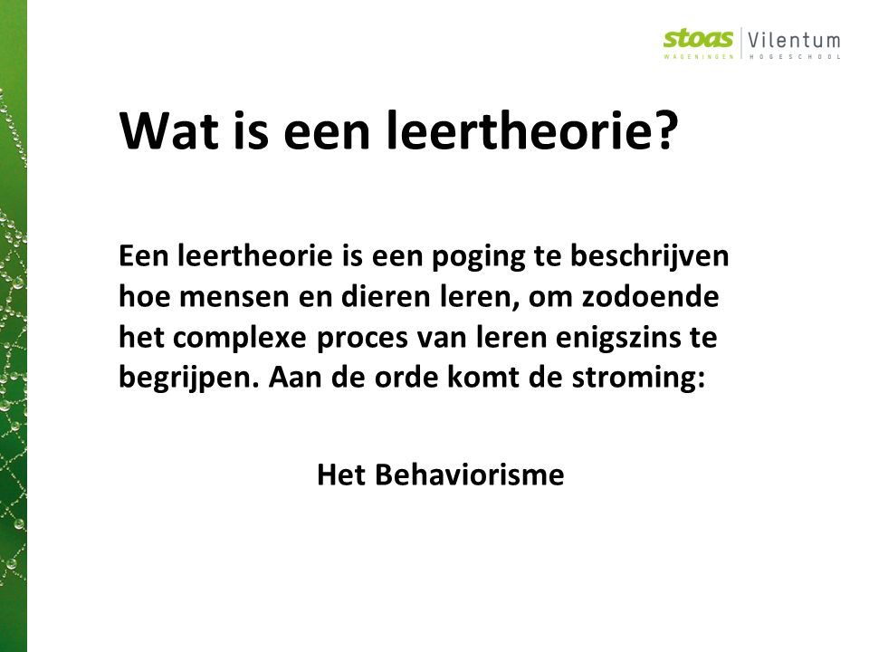 Wat is een leertheorie