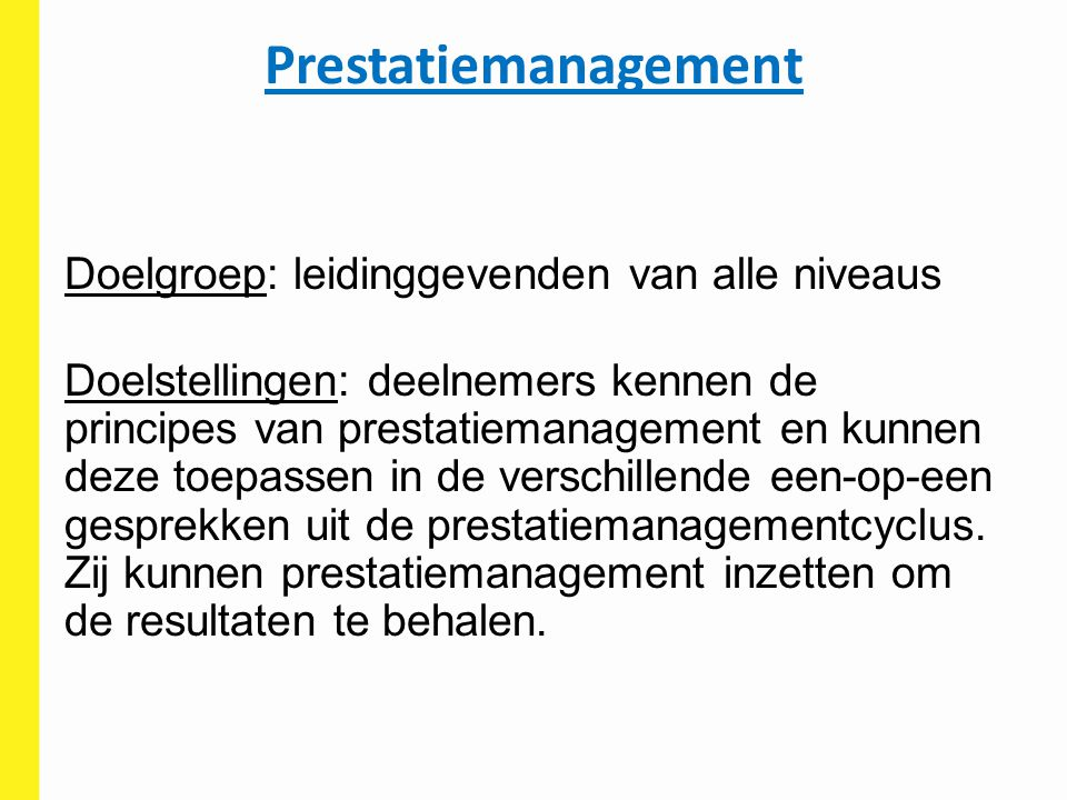 Prestatiemanagement
