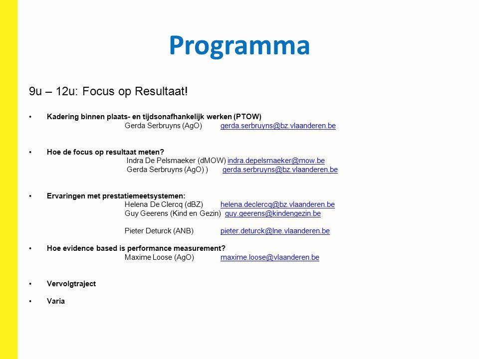 Programma 9u – 12u: Focus op Resultaat!