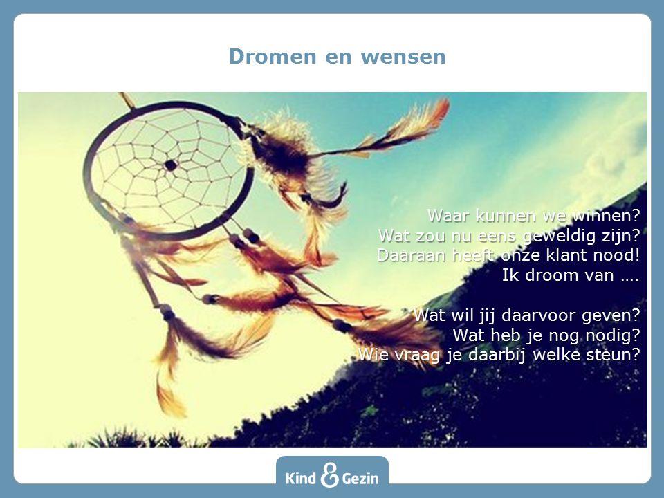 Dromen en wensen Waar kunnen we winnen Wat zou nu eens geweldig zijn