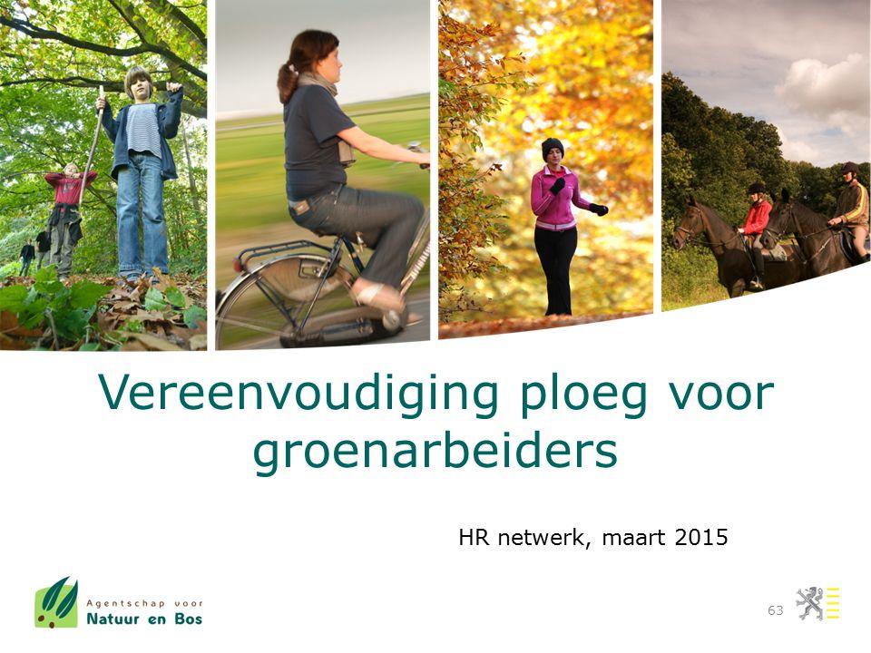Vereenvoudiging ploeg voor groenarbeiders