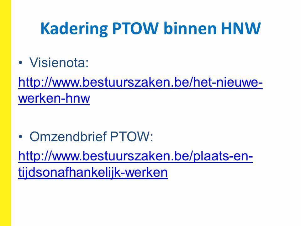 Kadering PTOW binnen HNW