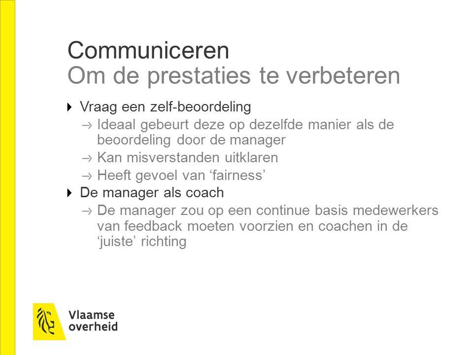 Communiceren Om de prestaties te verbeteren