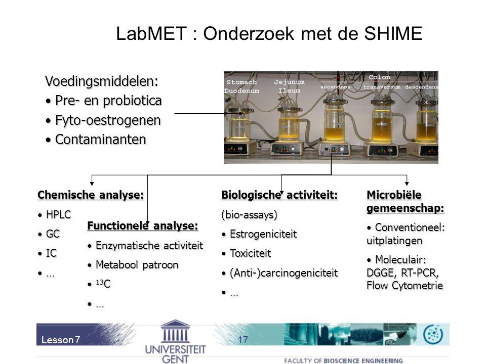 LabMET : Onderzoek met de SHIME
