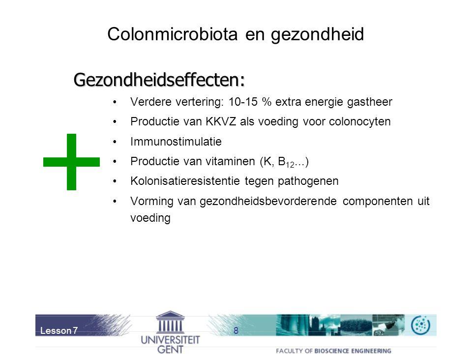 Colonmicrobiota en gezondheid