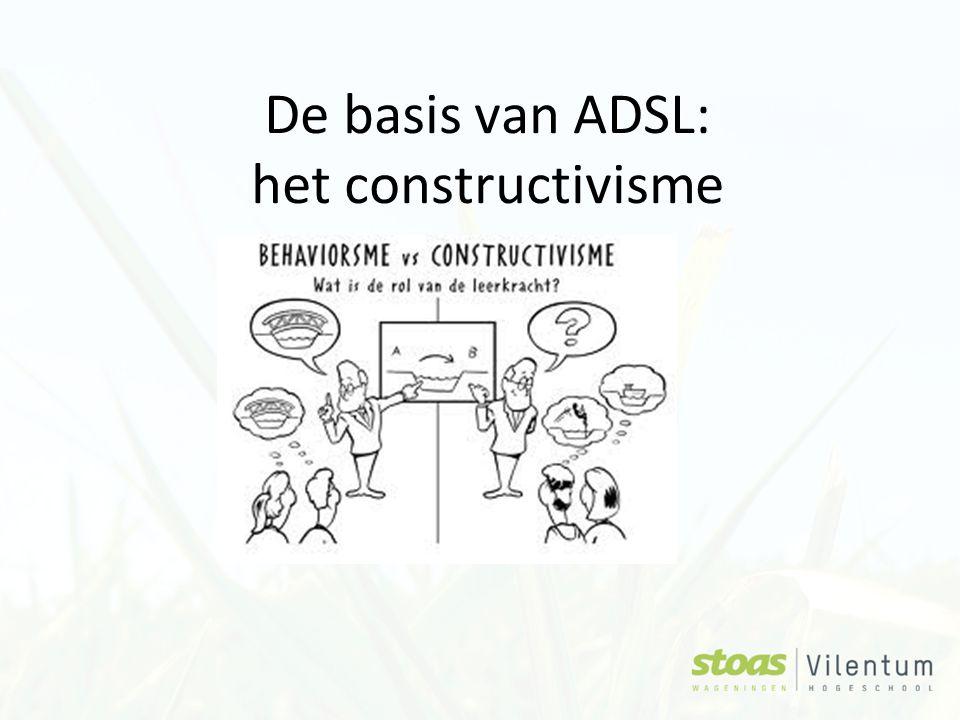 De basis van ADSL: het constructivisme