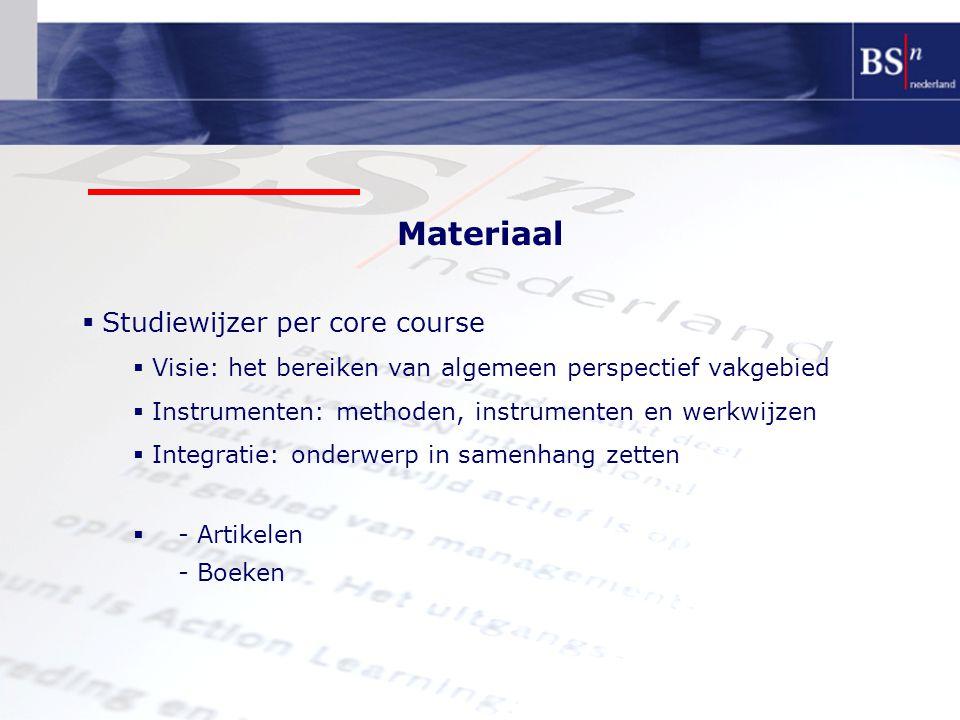Materiaal Studiewijzer per core course