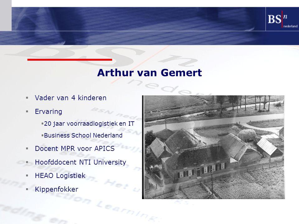 Arthur van Gemert Vader van 4 kinderen Ervaring Docent MPR voor APICS