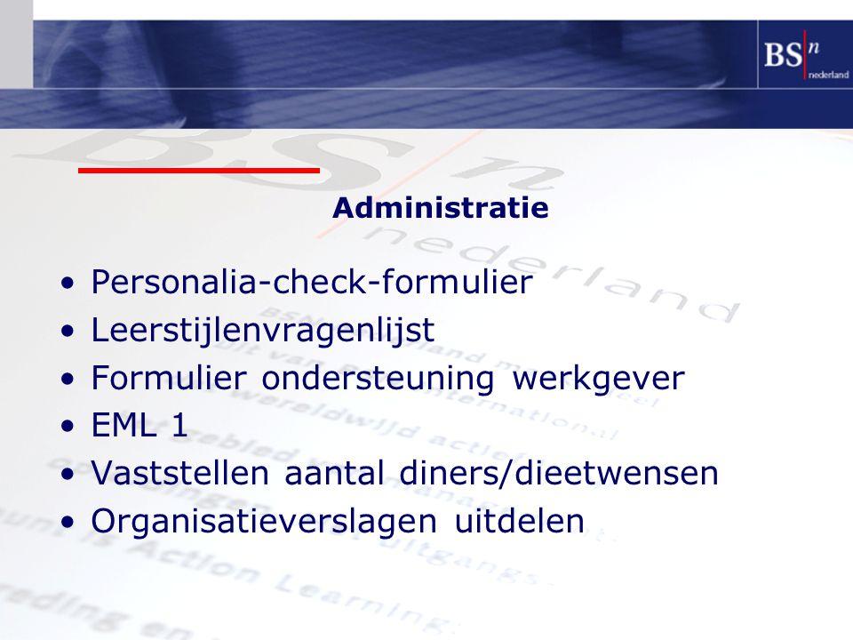 Personalia-check-formulier Leerstijlenvragenlijst