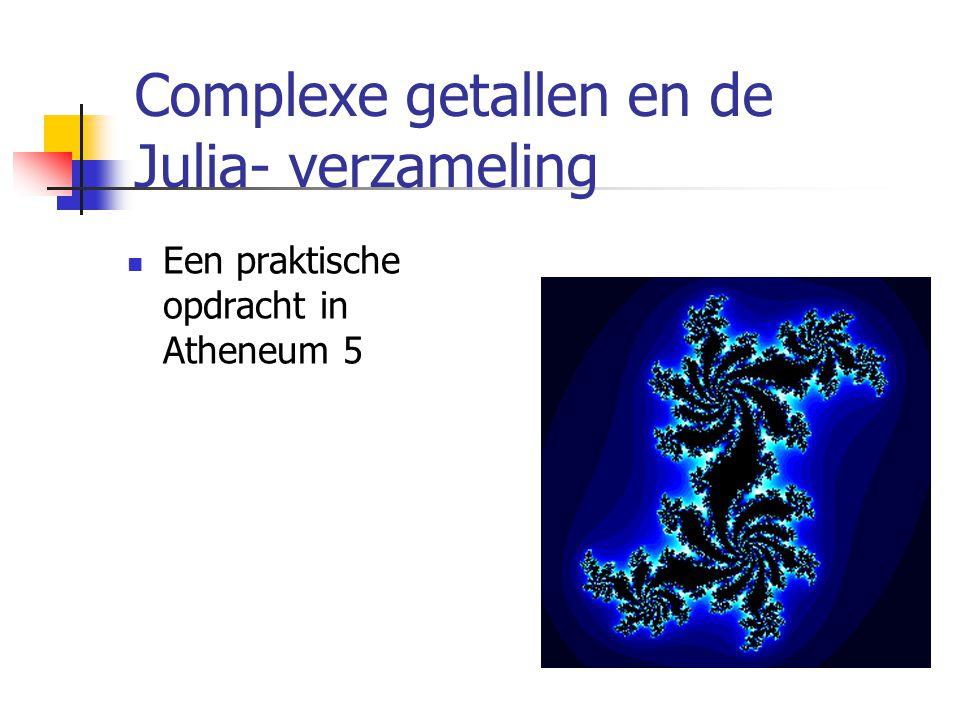 Complexe getallen en de Julia- verzameling