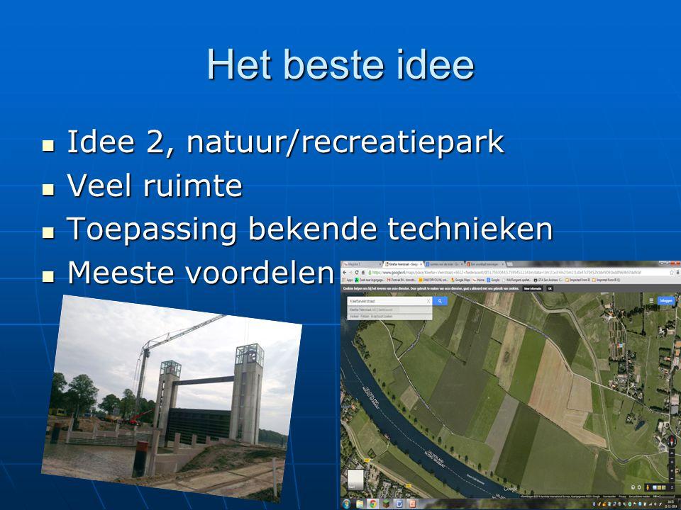 Het beste idee Idee 2, natuur/recreatiepark Veel ruimte
