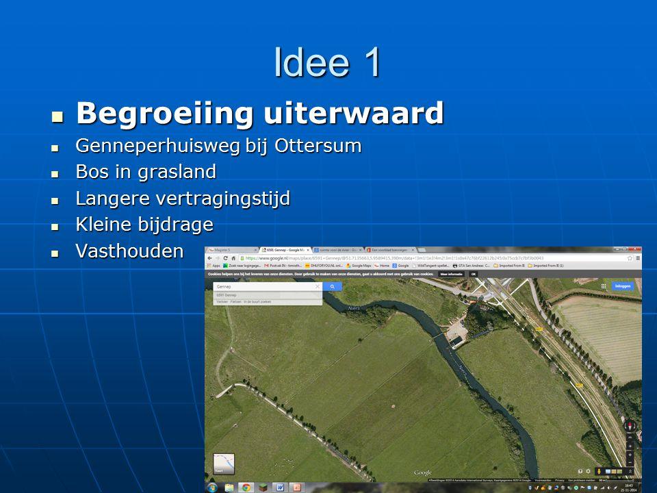 Idee 1 Begroeiing uiterwaard Genneperhuisweg bij Ottersum
