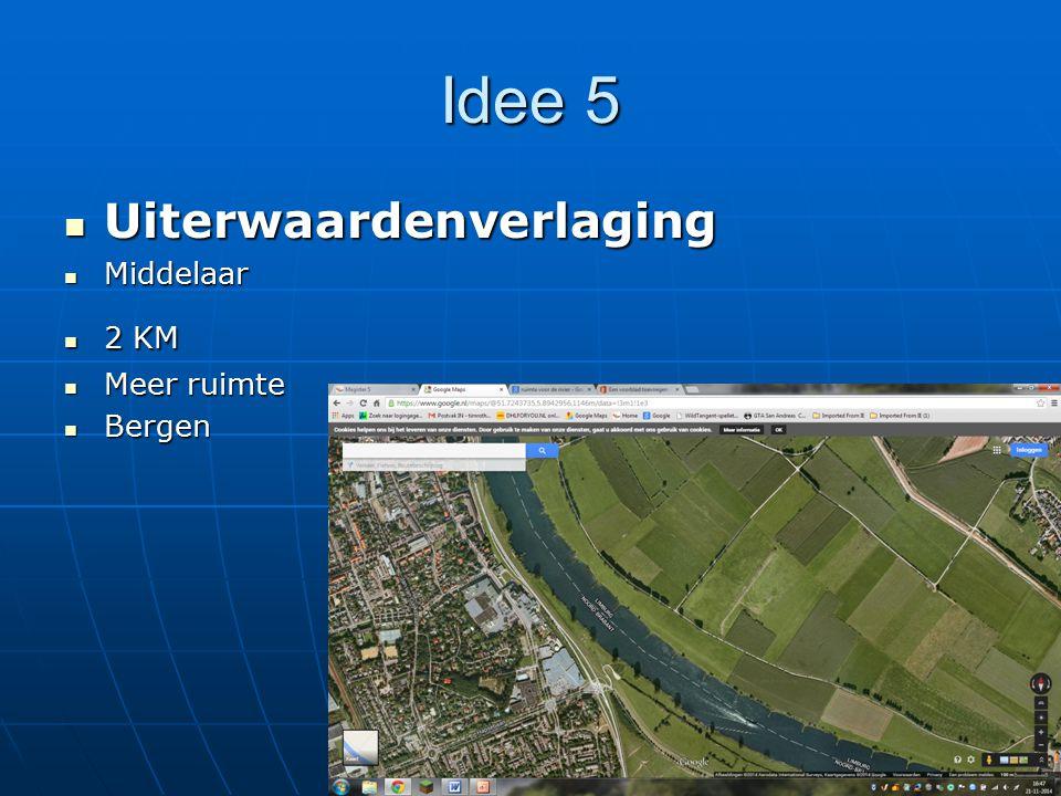 Idee 5 Uiterwaardenverlaging Middelaar 2 KM Meer ruimte Bergen