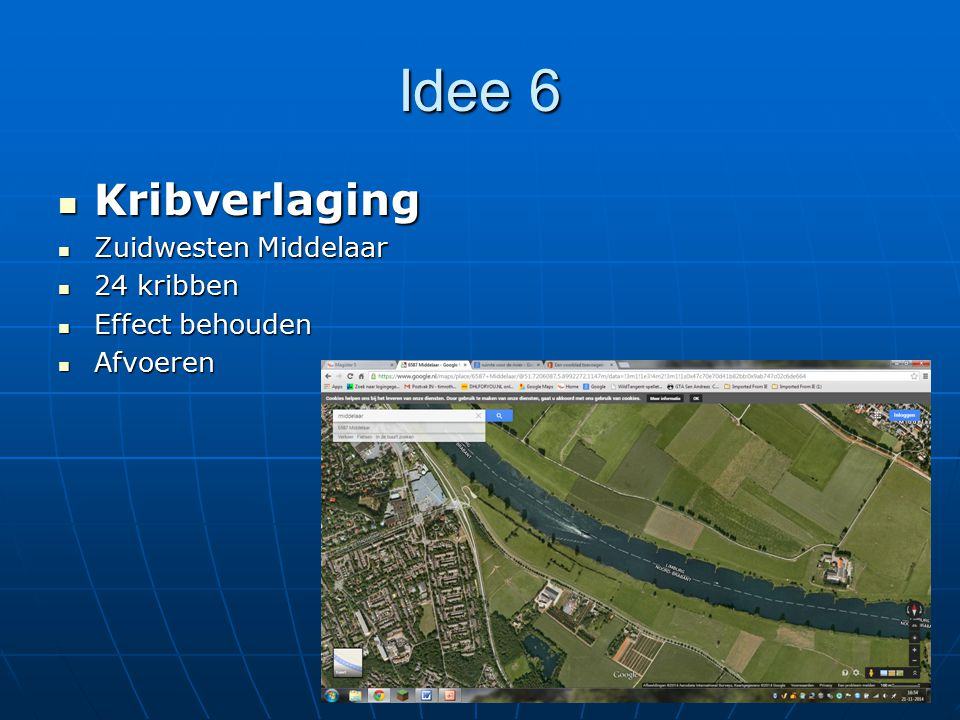 Idee 6 Kribverlaging Zuidwesten Middelaar 24 kribben Effect behouden