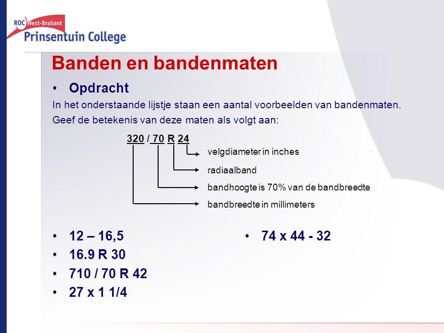 Banden en bandenmaten Opdracht 12 – 16,5 16.9 R 30 710 / 70 R 42